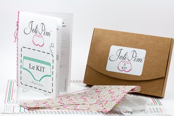 Kit JoliPim' DIY pour Confectionner une petite culotte pour fillette