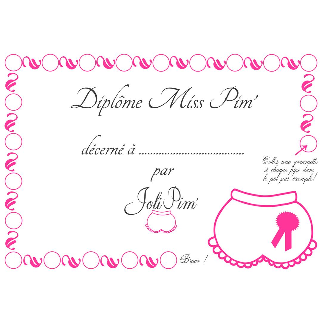 diplôme propreté JoliPim'