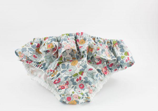 maillot culotte de bebe Liberty Betsy Porcelaine