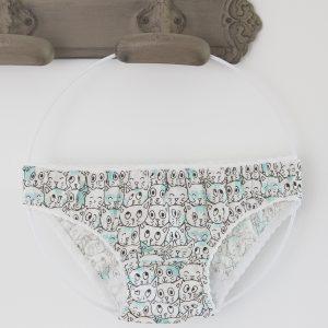 culotte fillette motif chats turquoise JoliPim'