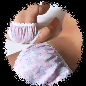 culotte fille et poupée en liberty idee cadeau fille 3 ans