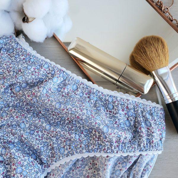 culotte femme liberty eloise bleu 6014D lingerie