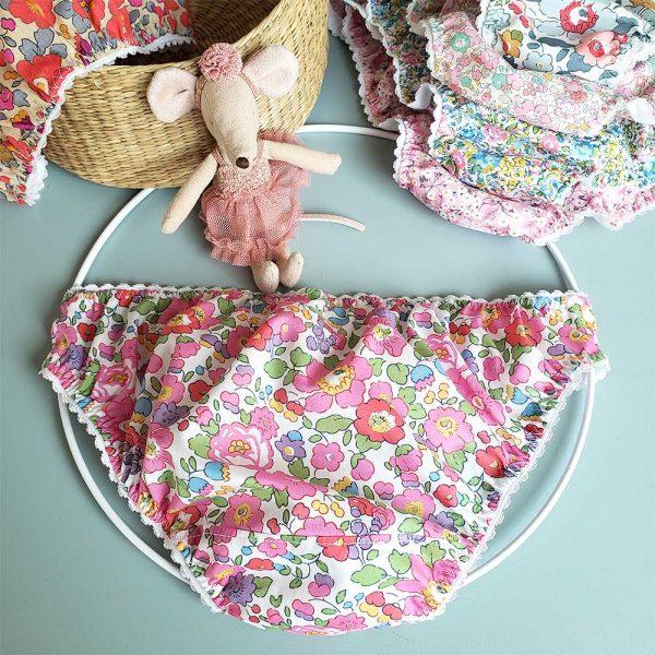 slip fille liberty betsy fuchsia lingerie chic romantique bcbg