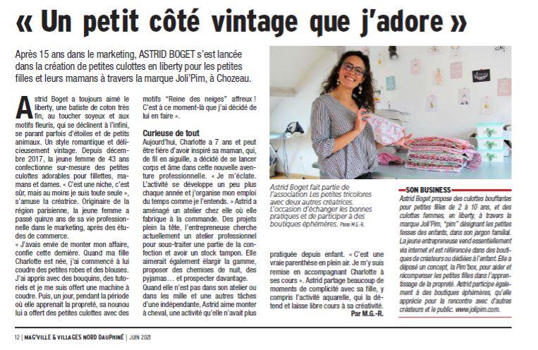article JoliPim' Astrid BOGET Mag Villes